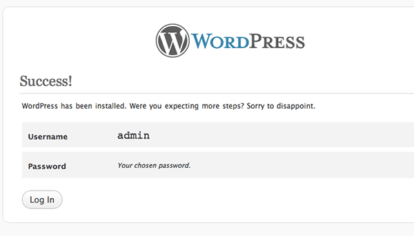 wordpress-fastest-install-osx-success