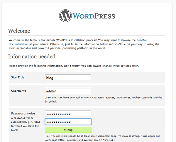 wordpress-fastest-install-osx